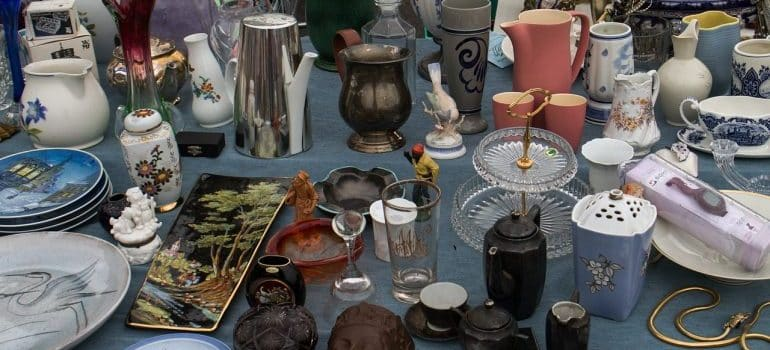 Various household items on display