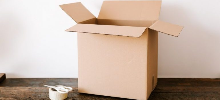 Cardboard box and tape