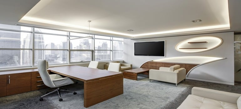 Office in the skyscaper