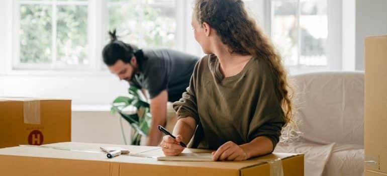 COUPLE preparing for a move