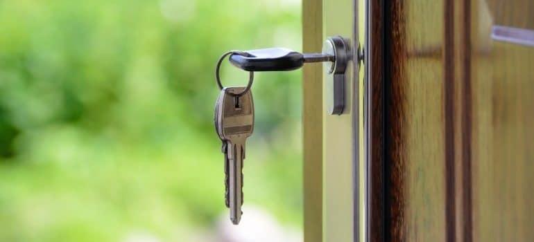 keys inside a lock