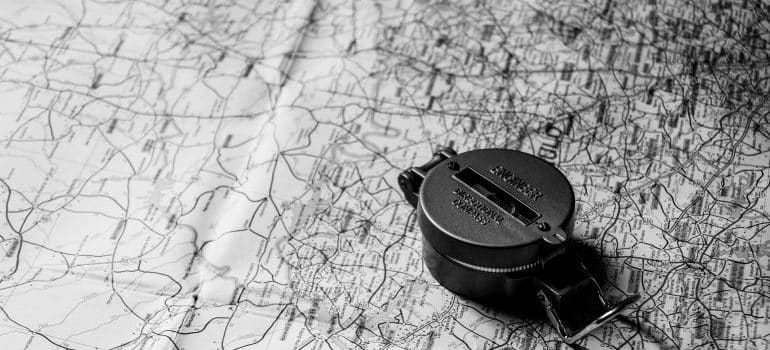 First among the last-minute moving tips - a compass and a map