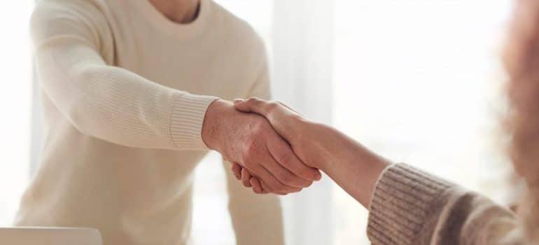 office meeting, handshake